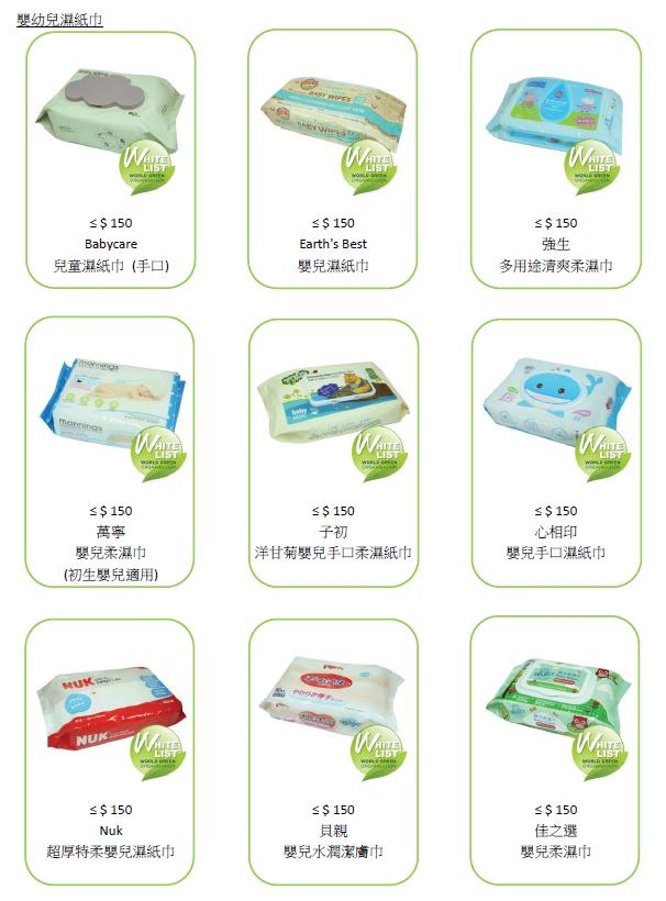 17款通過安全測試的濕紙巾和搓手液