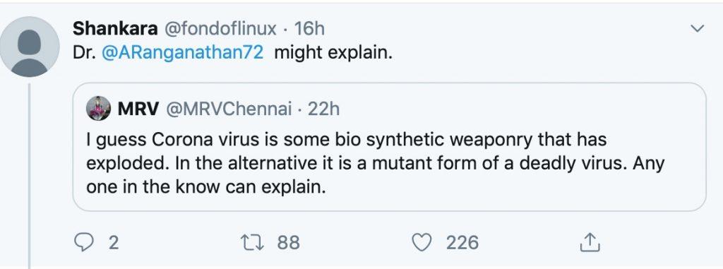 有外人回覆,直言覺得這是生物合成武器。
