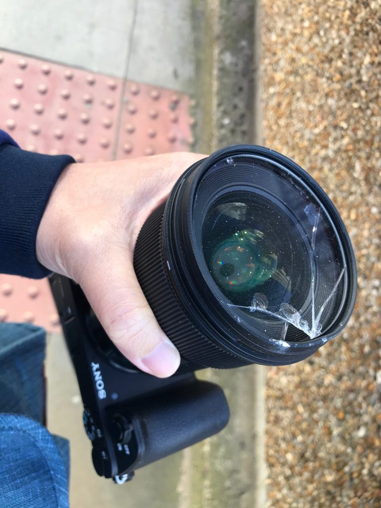 Shattered Camera Lens in the OCS car accident