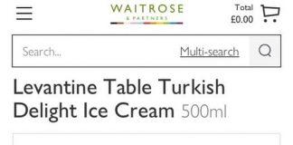 大推這款Waitrose的土耳其軟糖口味冰淇淋!